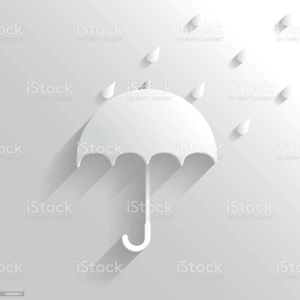 Abstract Umbrella on White Background royalty-free stock vector art