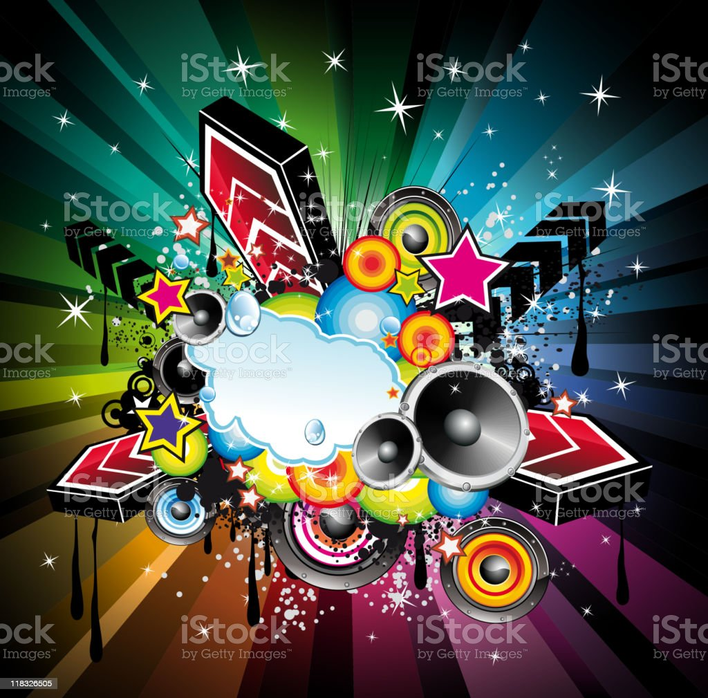 Abstract Urban Disco Event Background royalty-free stock vector art