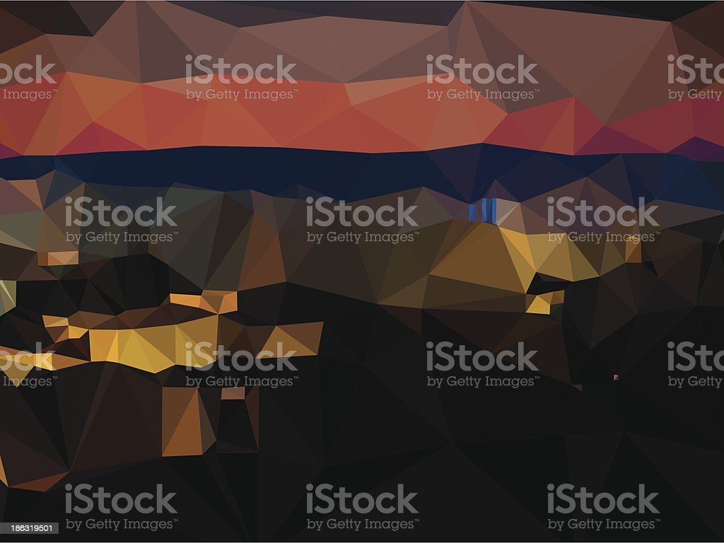 Abstract Urban Landscape royalty-free stock vector art