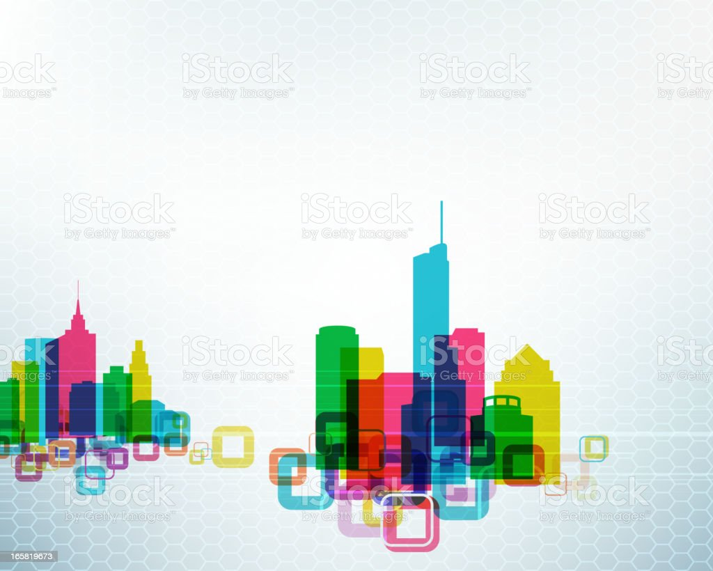 Abstract Urban Scene royalty-free stock vector art
