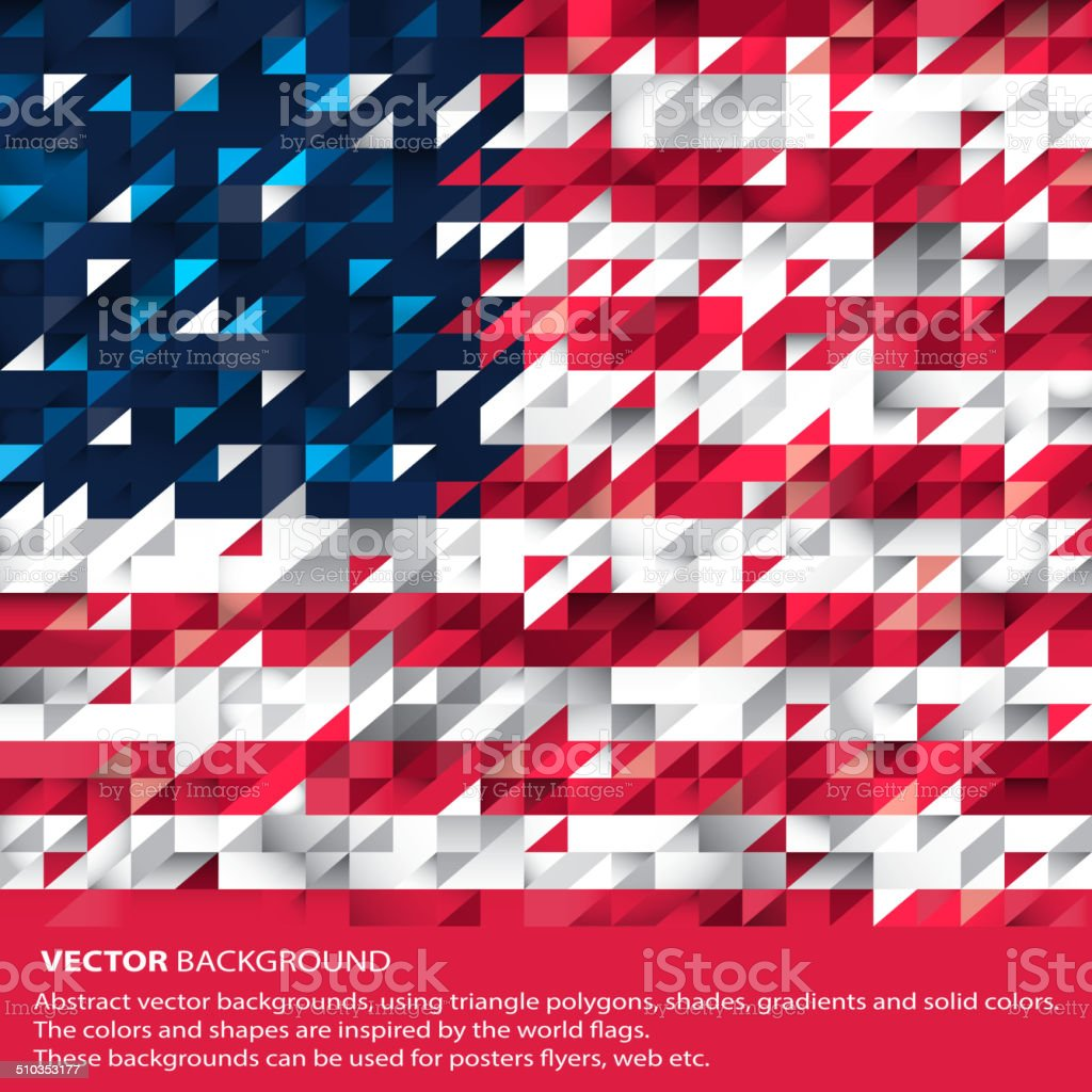 Abstract USA Background, American Flag (Vector Art) vector art illustration