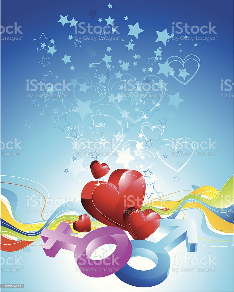 Abstract valentine background royalty-free stock vector art