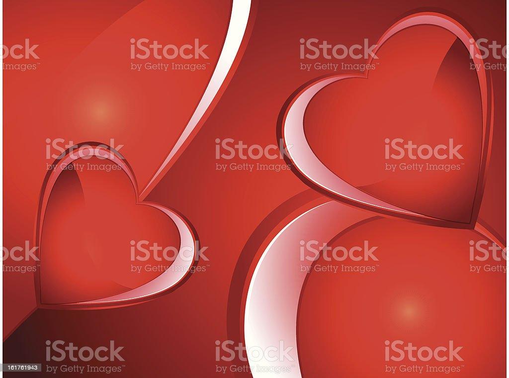 abstract valentine heart wallpaper royalty-free stock vector art