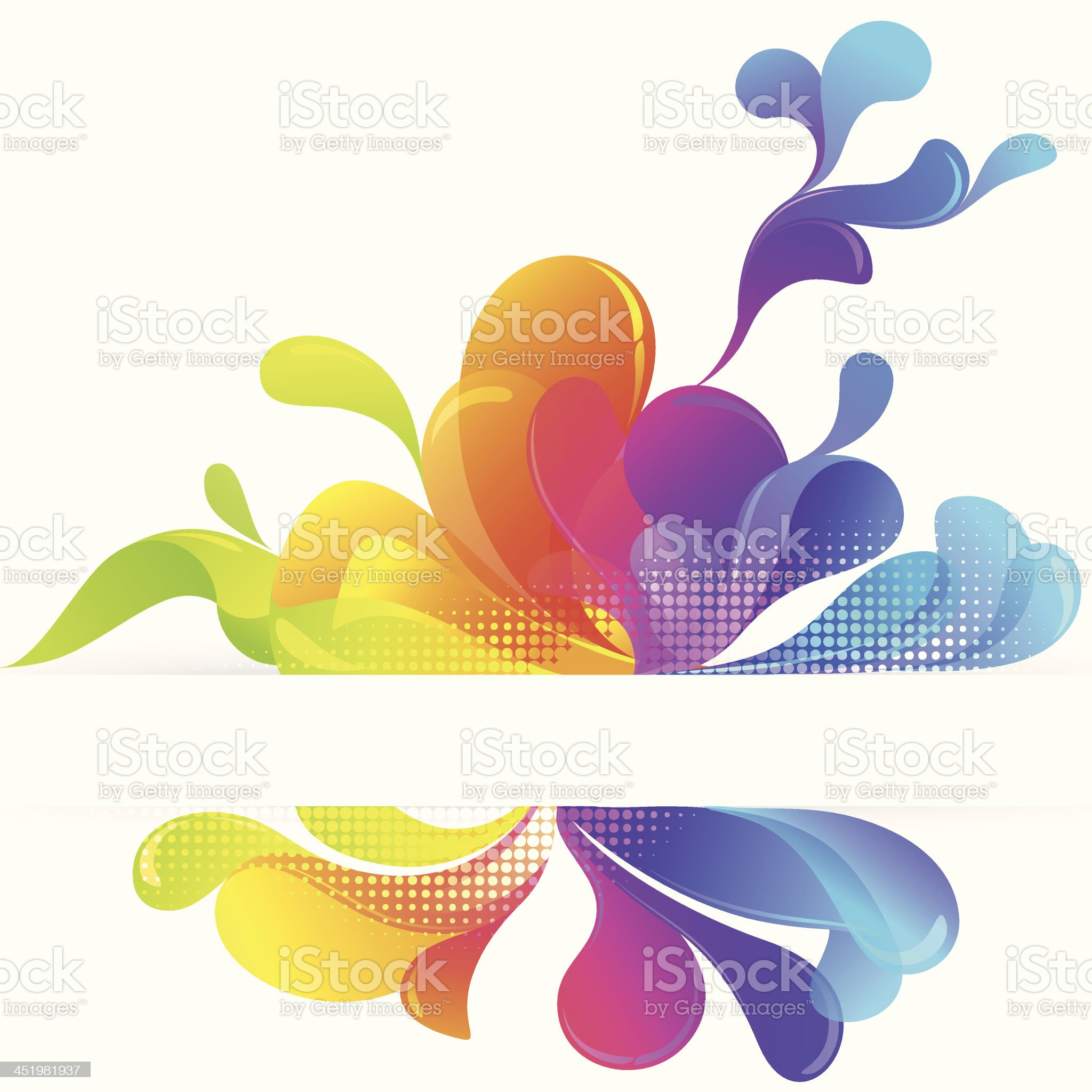 Abstract Varicolored Bubbles Background royalty-free stock vector art