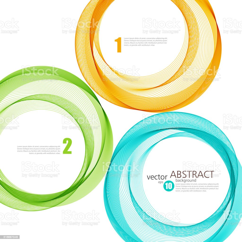 Abstract vector background, color ring vector art illustration