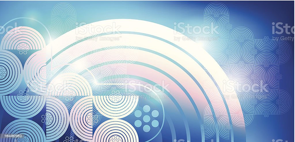 Abstract vector background, geometric pattern of circles. royalty-free stock vector art