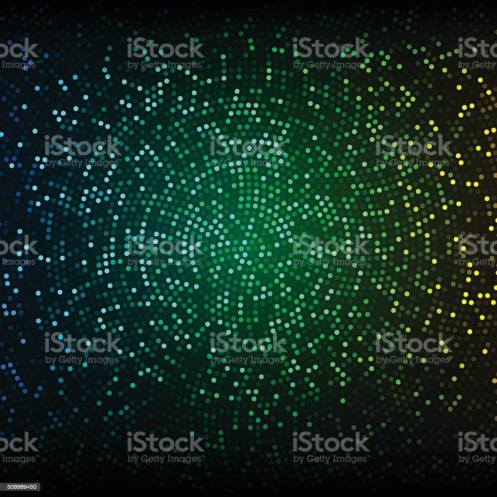 Abstract vector background. Glowing mosaic of circles vector art illustration