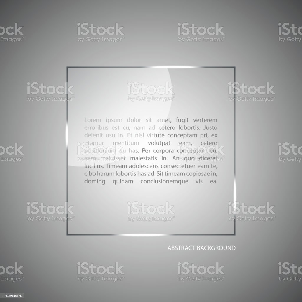 Abstract vector background with a glass panel with copy space. vector art illustration