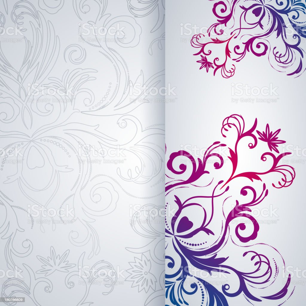 Abstract vector background with floral item. royalty-free stock vector art