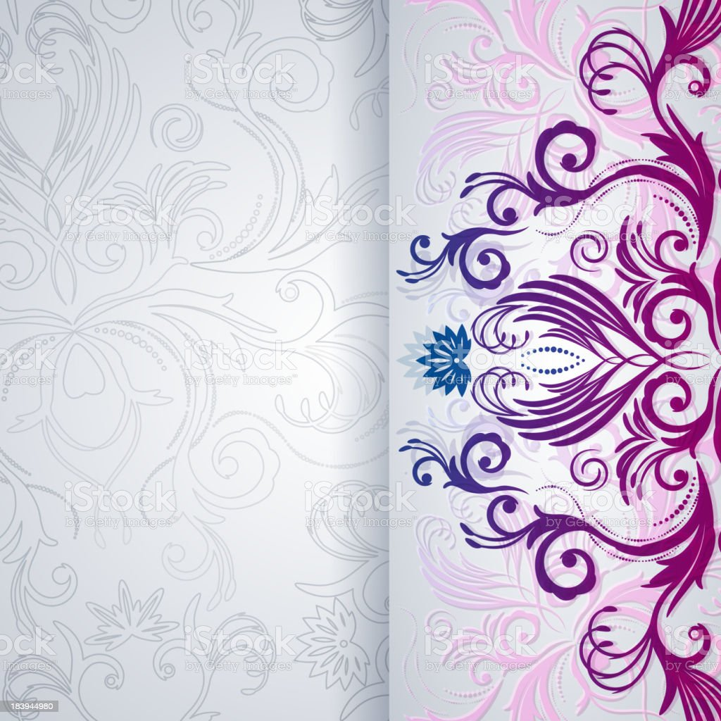 Abstract vector background with floral pattern royalty-free stock vector art