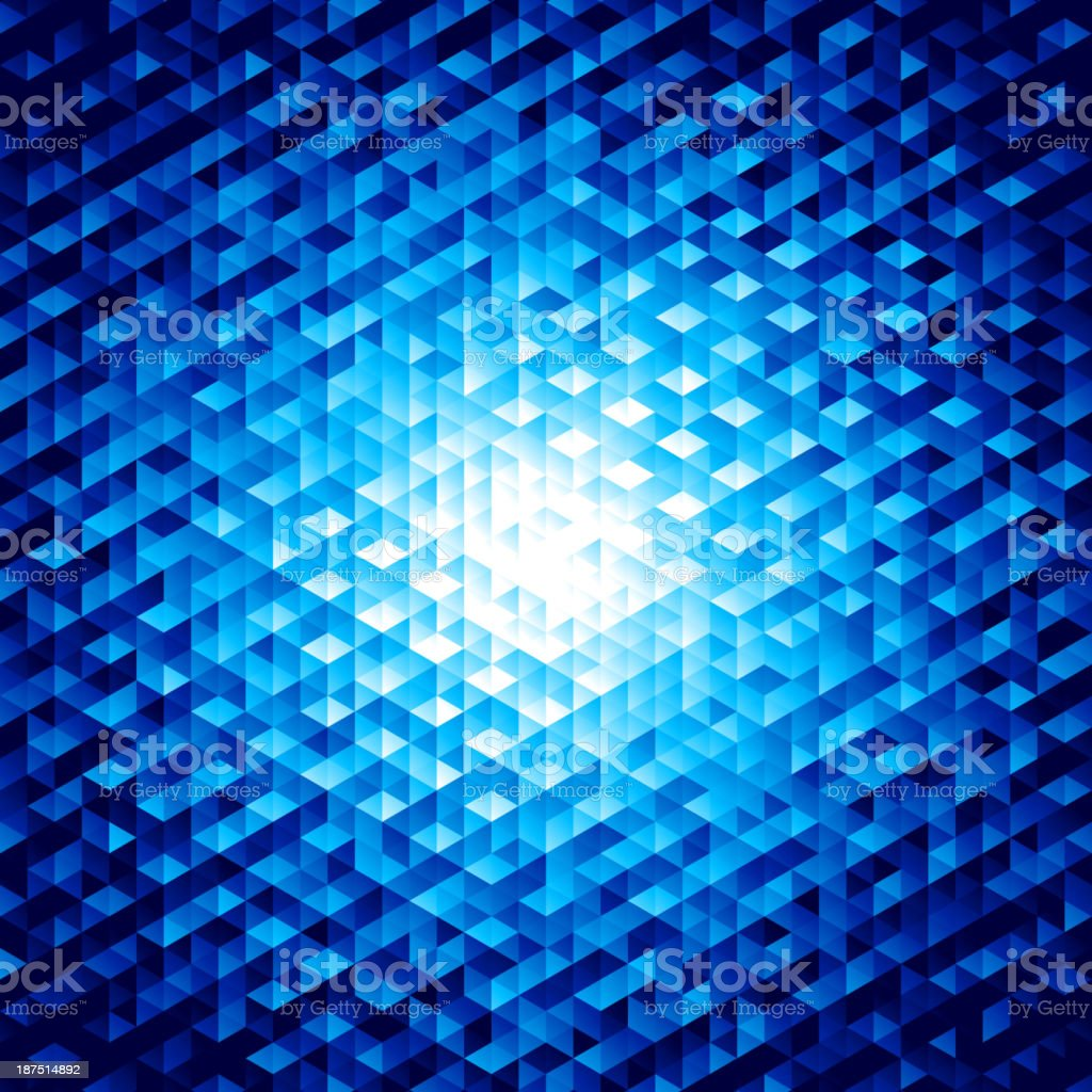 Abstract vector background with hexagons vector art illustration