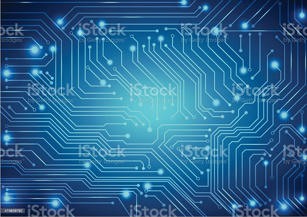 abstract vector background with high tech circuit board vector art illustration