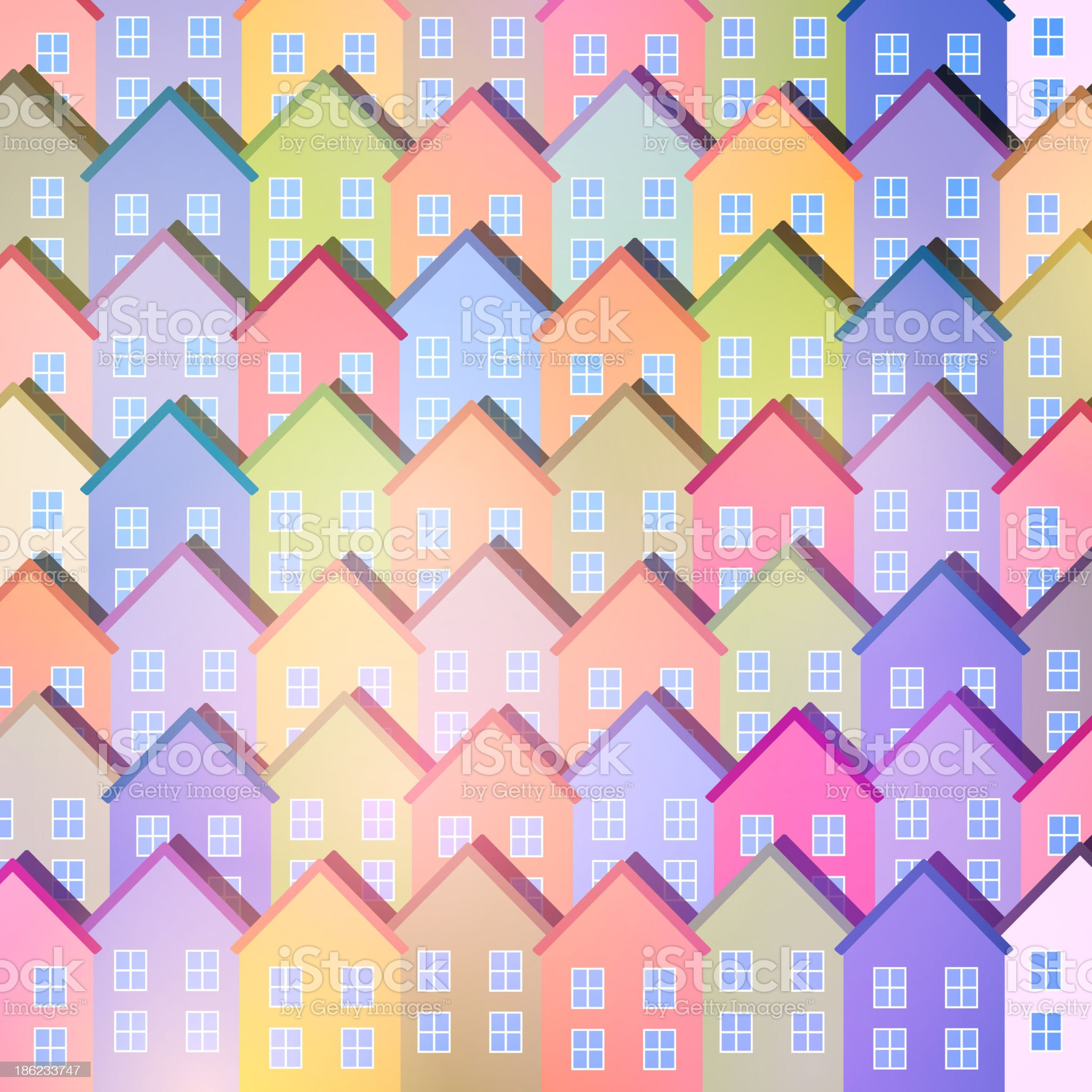 Abstract Vector Background with Paper Houses royalty-free stock vector art