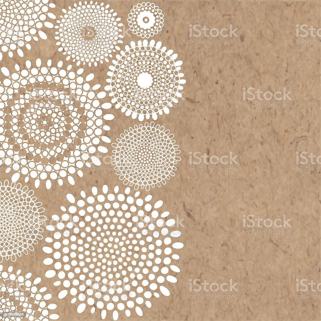 Abstract  vector background with space for text on kraft paper. vector art illustration