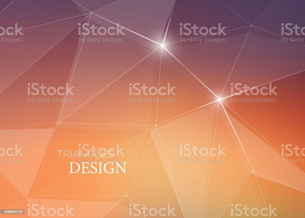 Abstrait Vecteur Fond Avec Des Triangles Et De Lignes Pures Cartes Visite Stock
