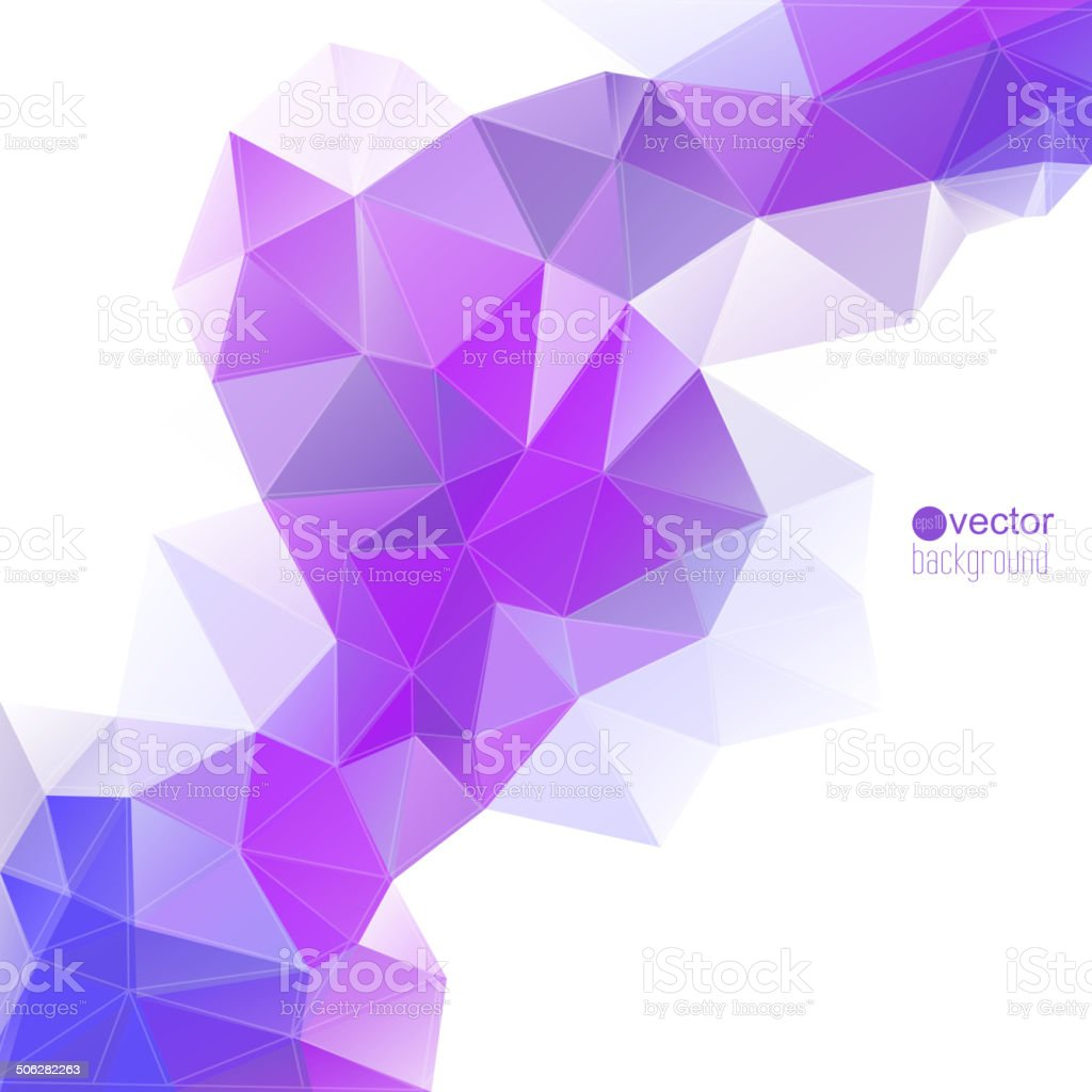 Abstract vector background with triangles and polygon mesh. vector art illustration