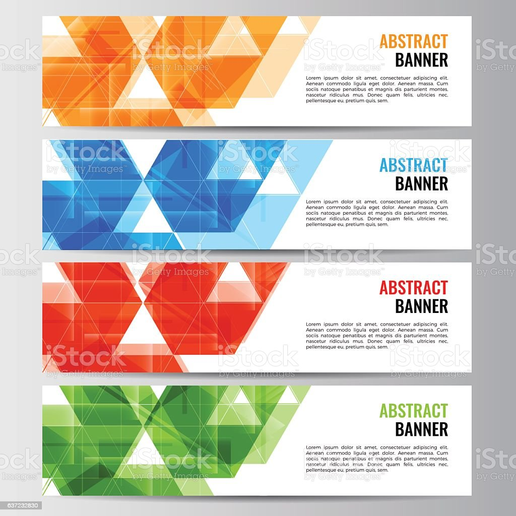 Abstract vector banner business background vector art illustration