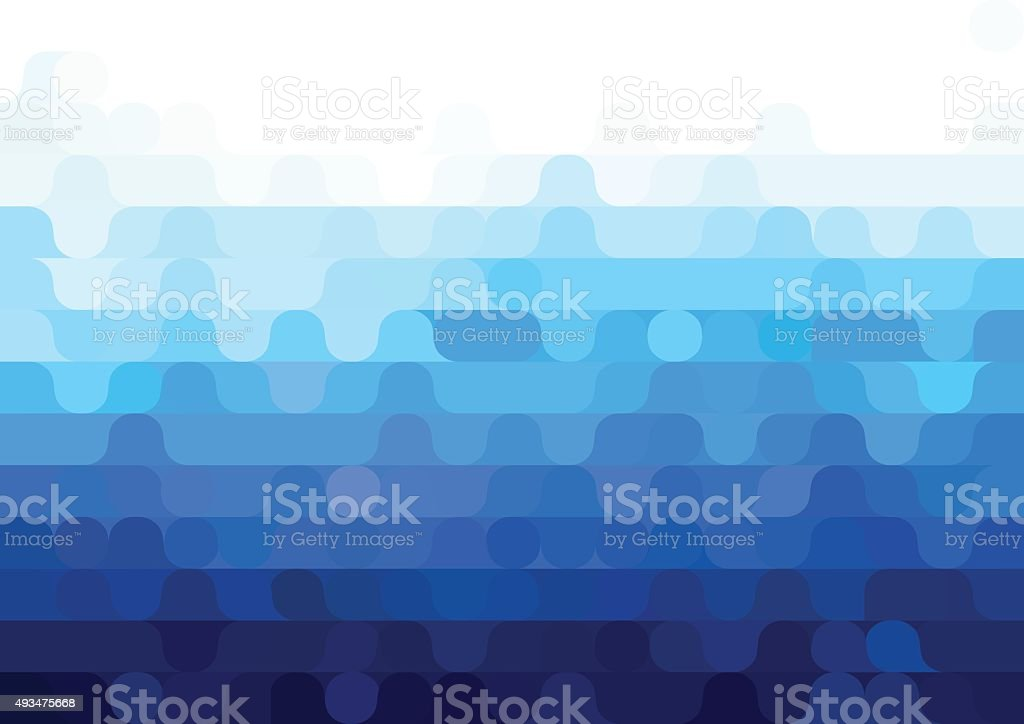 Abstract vector blue geometric background vector art illustration