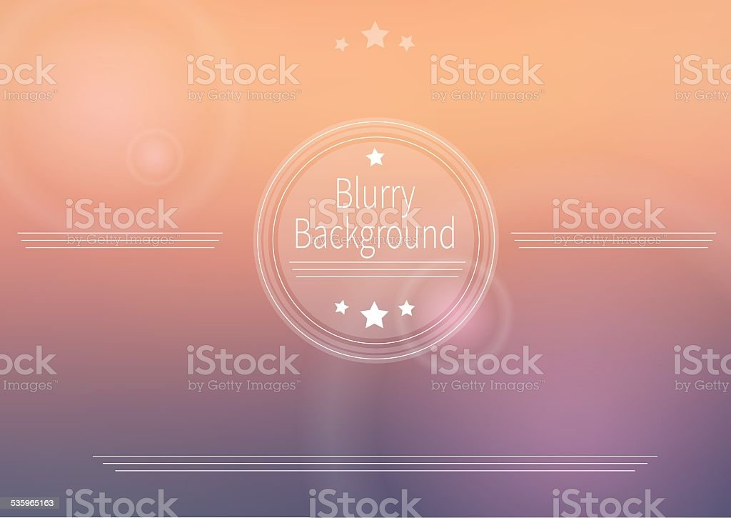 Abstract vector blurry background vector art illustration
