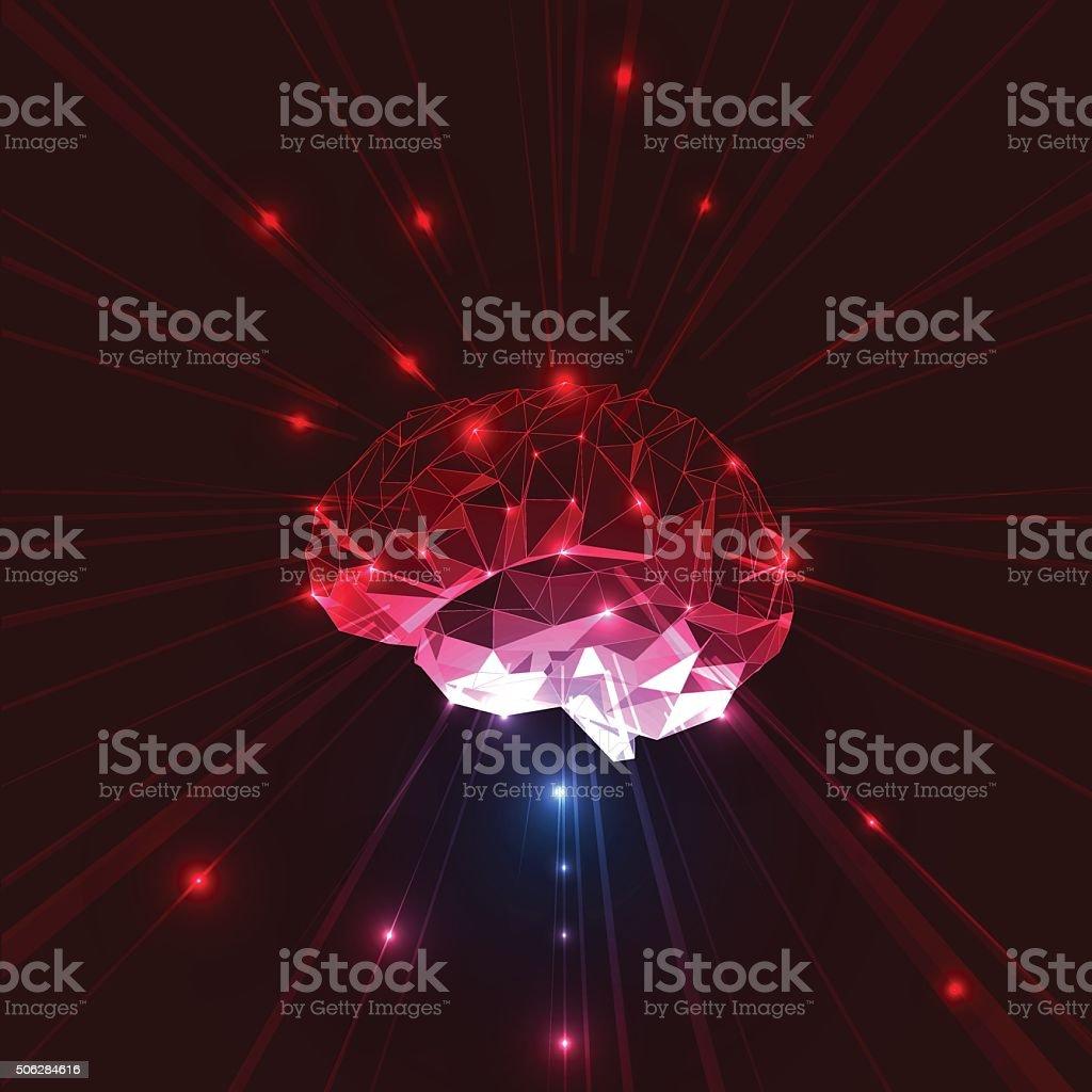 Abstract Vector Brain vector art illustration