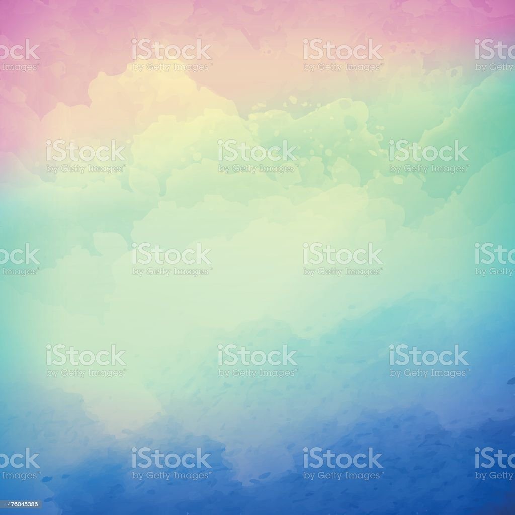 Abstract vector cloudy sky background vector art illustration