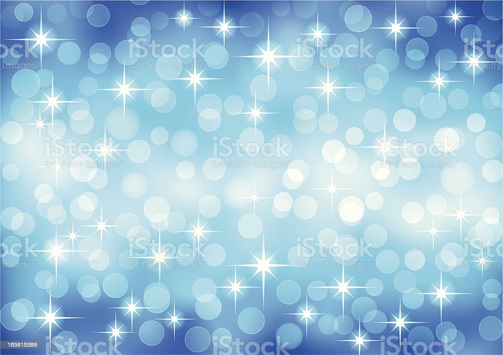 Abstract vector defocused blue light background royalty-free stock vector art