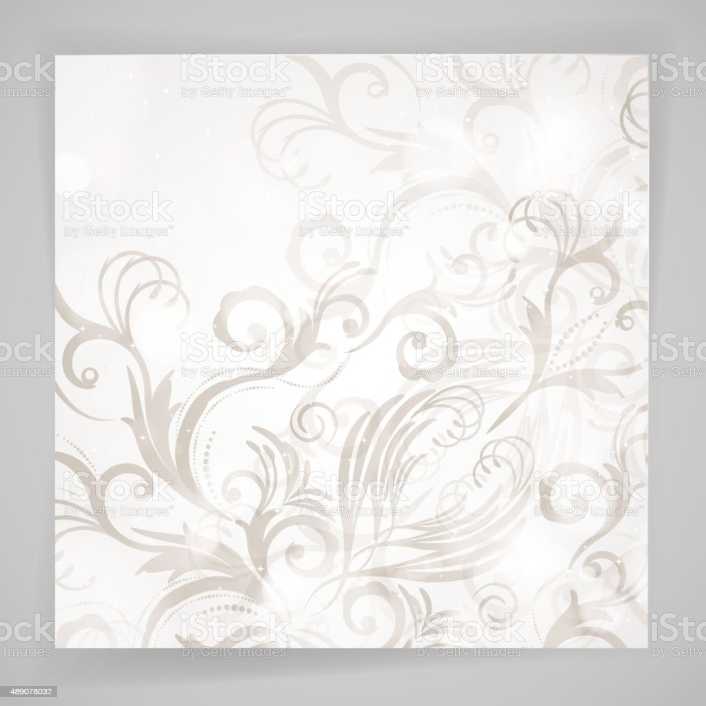 Abstract vector floral background with oriental flowers. vector art illustration