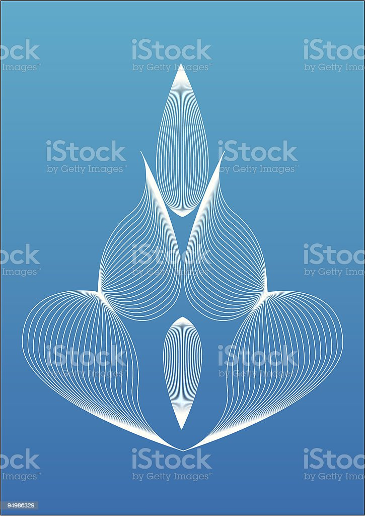 Abstract vector flower royalty-free stock vector art