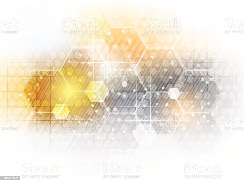 Abstract vector future business technology background with hexagon pattern. vector art illustration