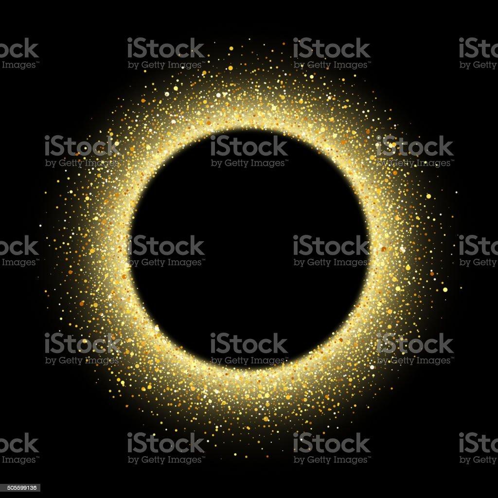 Abstract vector gold dust glitter star wave background vector art illustration