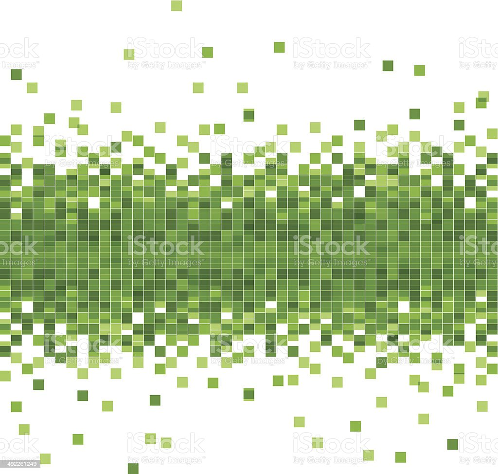 abstract vector green data flowing technology background vector art illustration