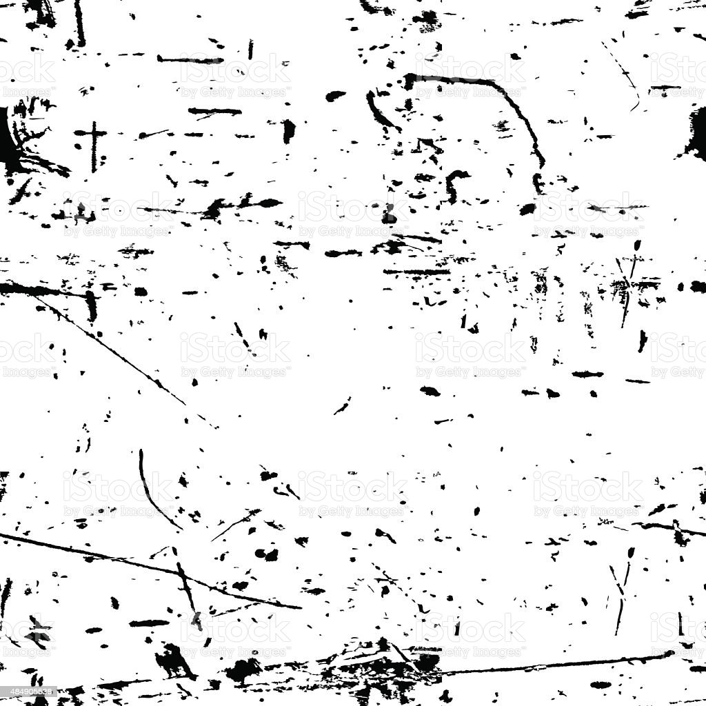 Abstract vector grunge seamless texture. Black and white dirty background. vector art illustration
