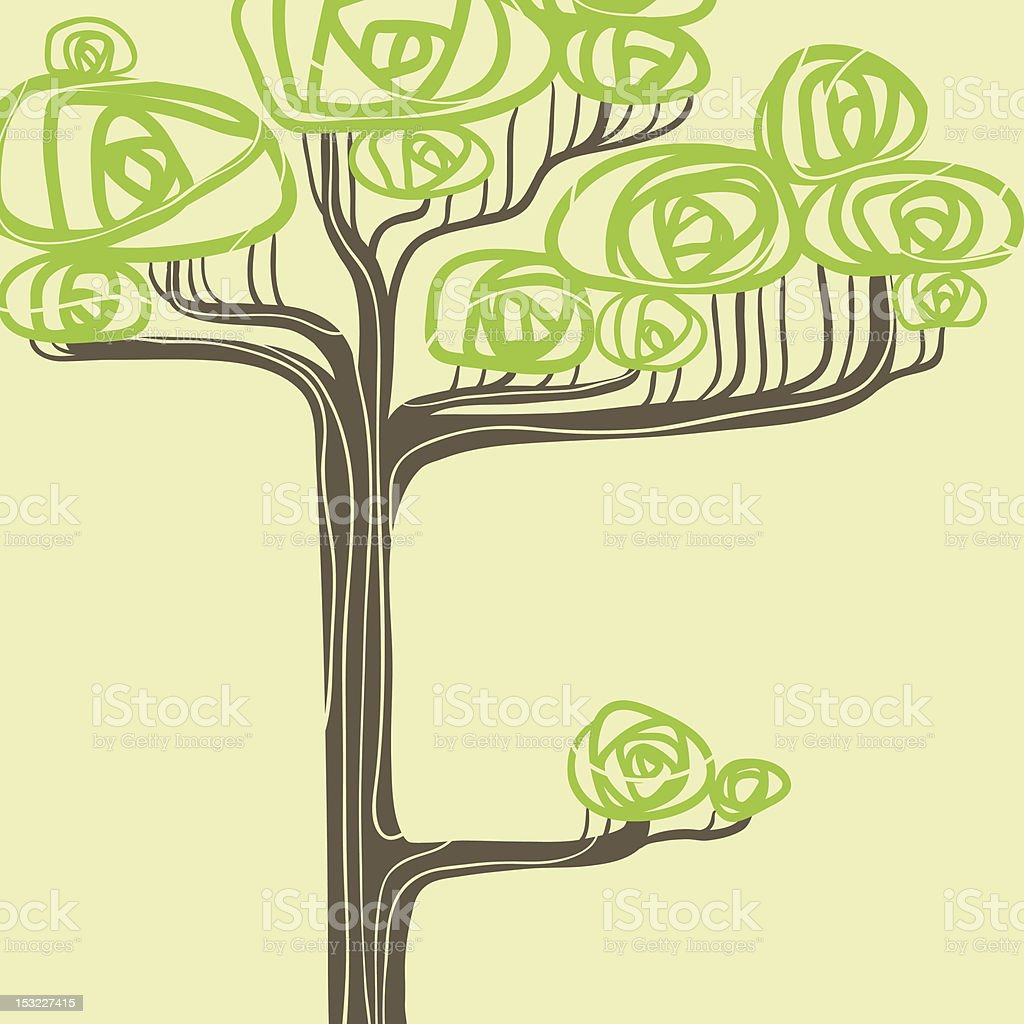 Abstract vector illustration of stylized green tree. royalty-free stock vector art