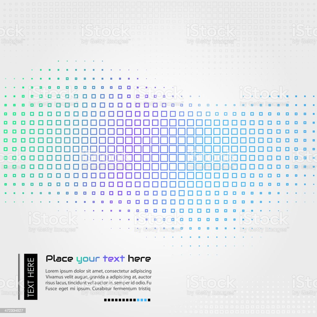 Abstract vector illustration of wave of squares royalty-free stock vector art