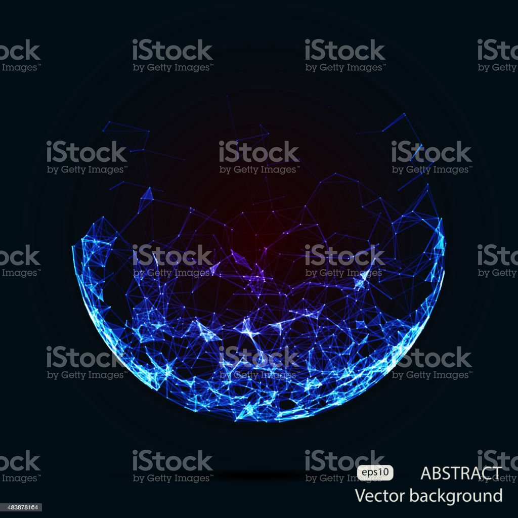 Abstract vector mesh spheres. Futuristic technology style. Elegant background for vector art illustration