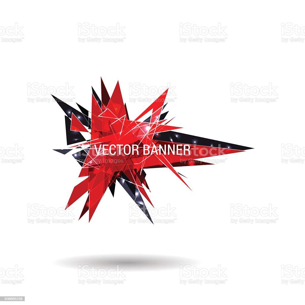 Abstract vector modern banner vector art illustration