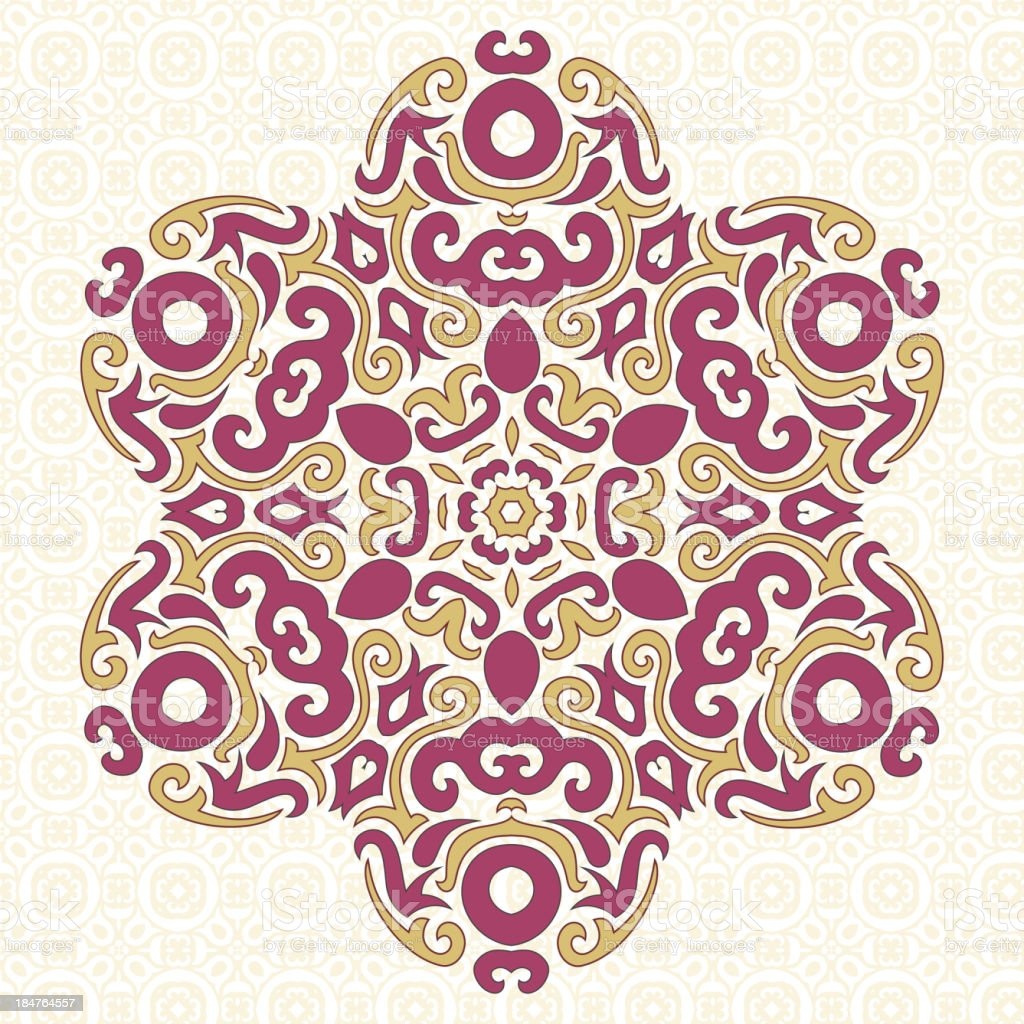 Abstract Vector Ornament in Tribal Style royalty-free stock vector art