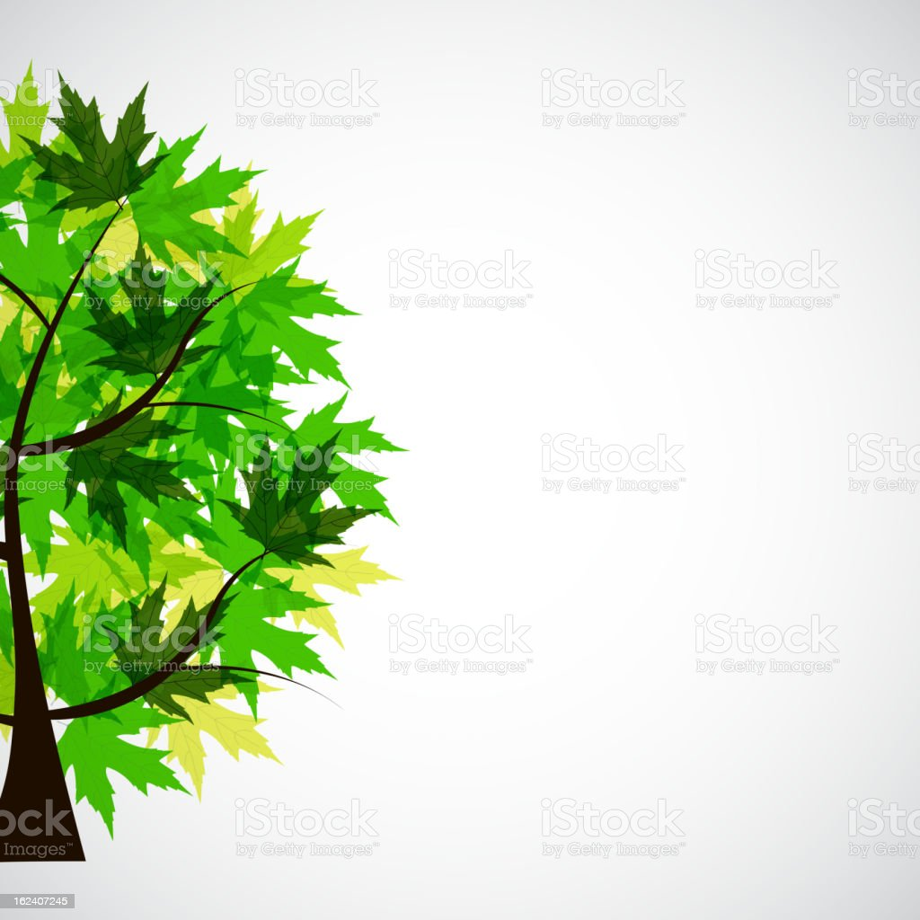 Abstract Vector spring tree illustration royalty-free stock vector art