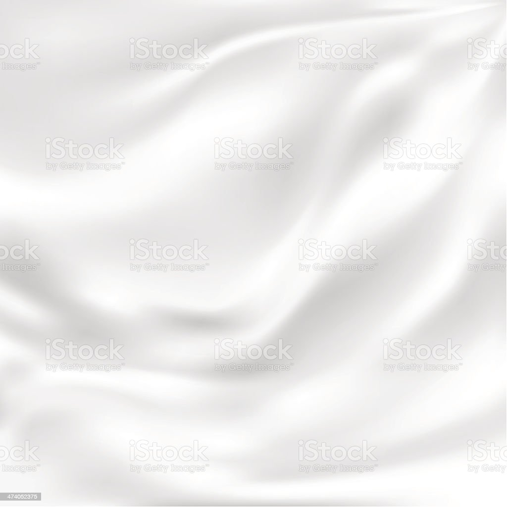 Abstract Vector Texture, White Silk vector art illustration
