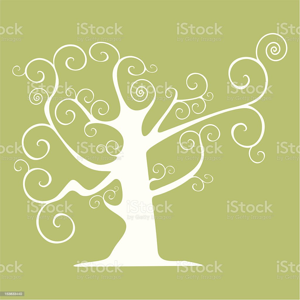 Abstract vector tree royalty-free stock vector art