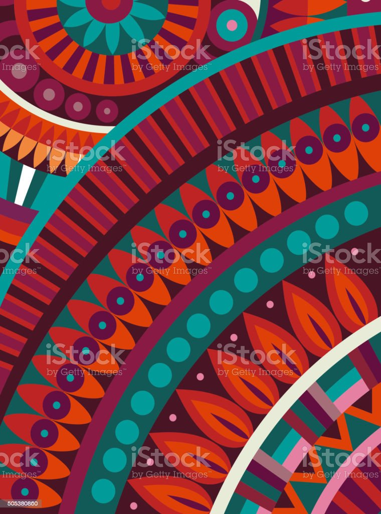 Abstract vector tribal ethnic background vector art illustration
