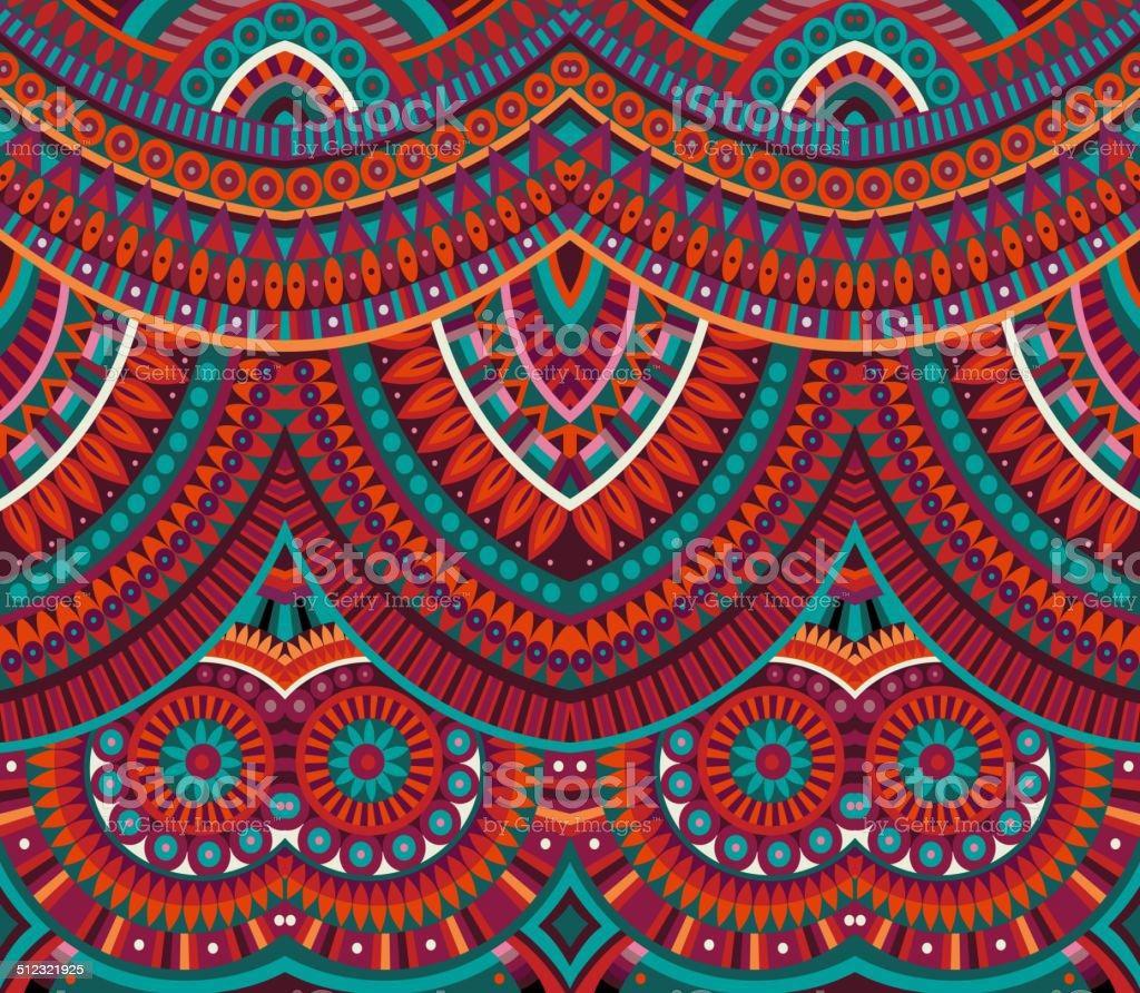 Abstract vector tribal ethnic pattern vector art illustration