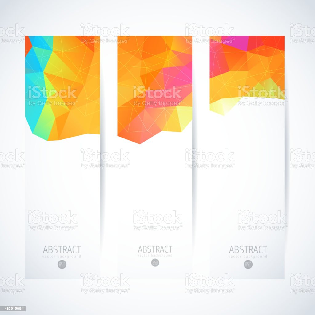 Abstract vector vertical mosaic banners royalty-free stock vector art