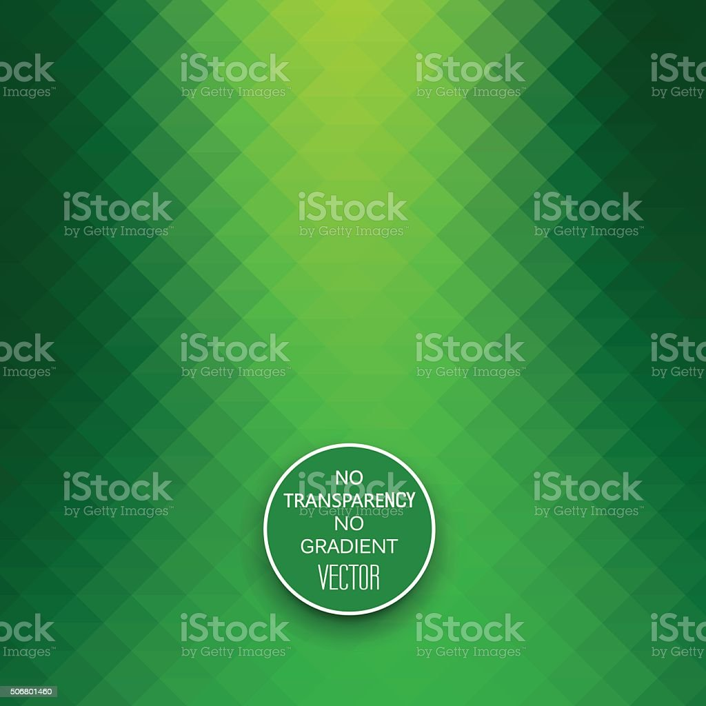 Abstract vibrant green geometric background vector art illustration