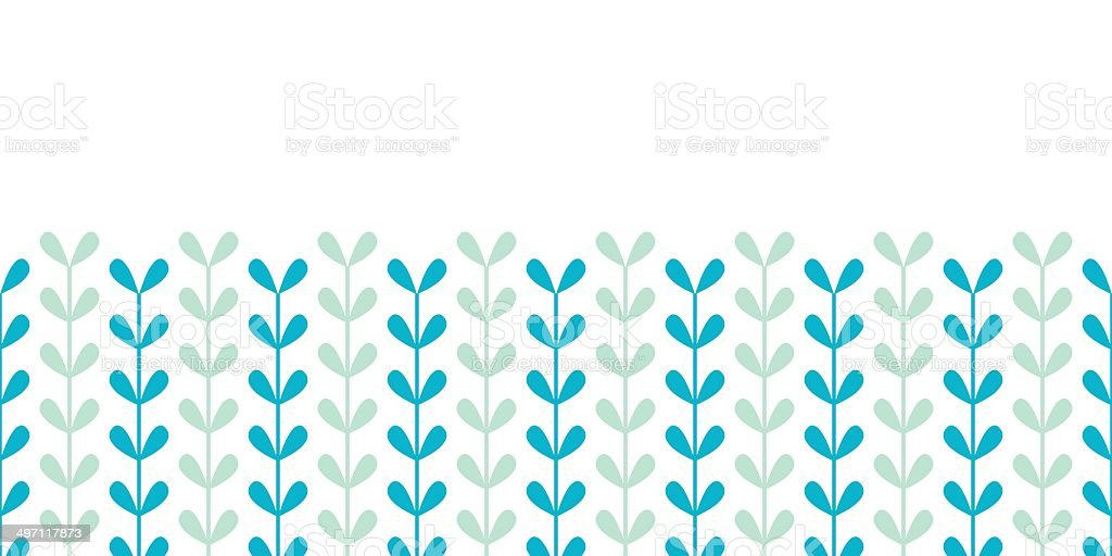Abstract vines leaves horizontal seamless pattern background royalty-free stock vector art