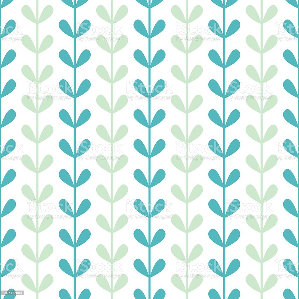 Abstract vines leaves seamless pattern background royalty-free stock vector art