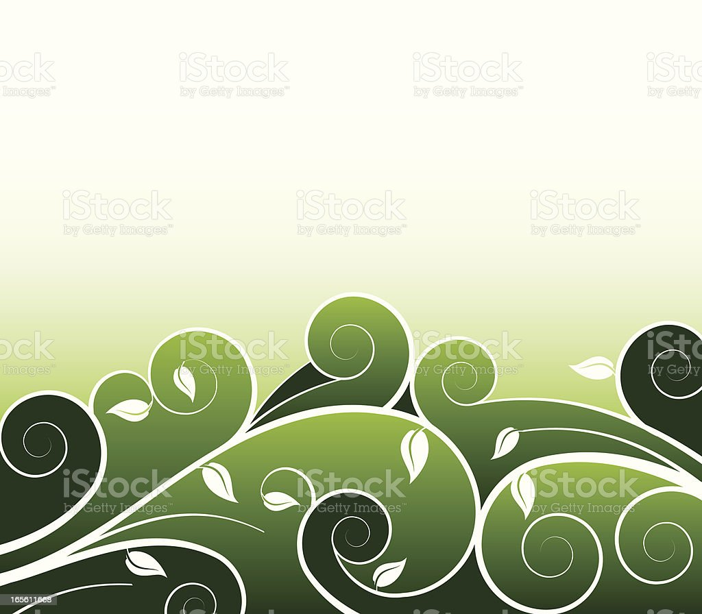 Abstract Vines royalty-free stock vector art