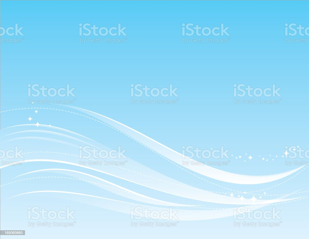 abstract water & sparkles bg royalty-free stock vector art