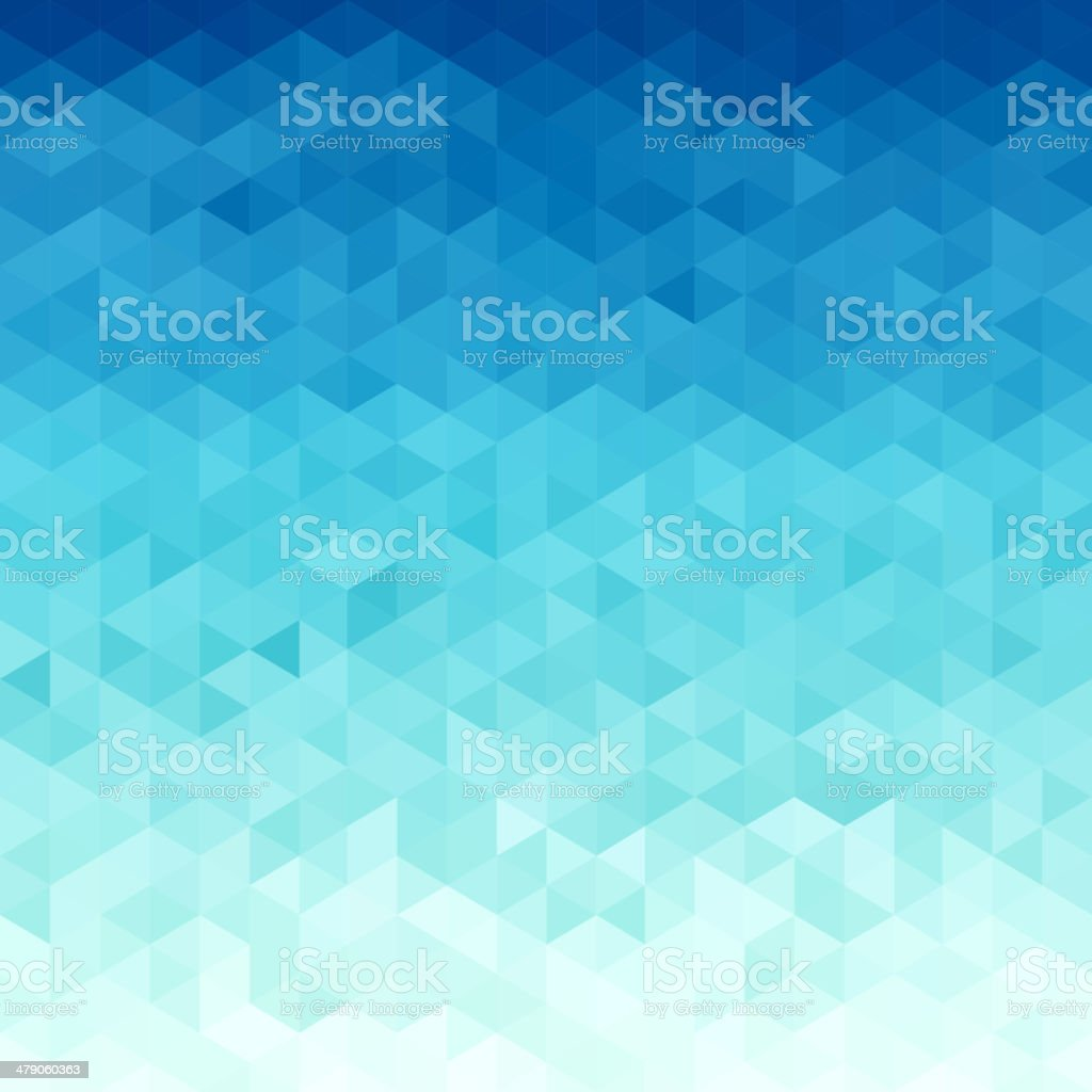 Abstract water  triangular pattern vector art illustration