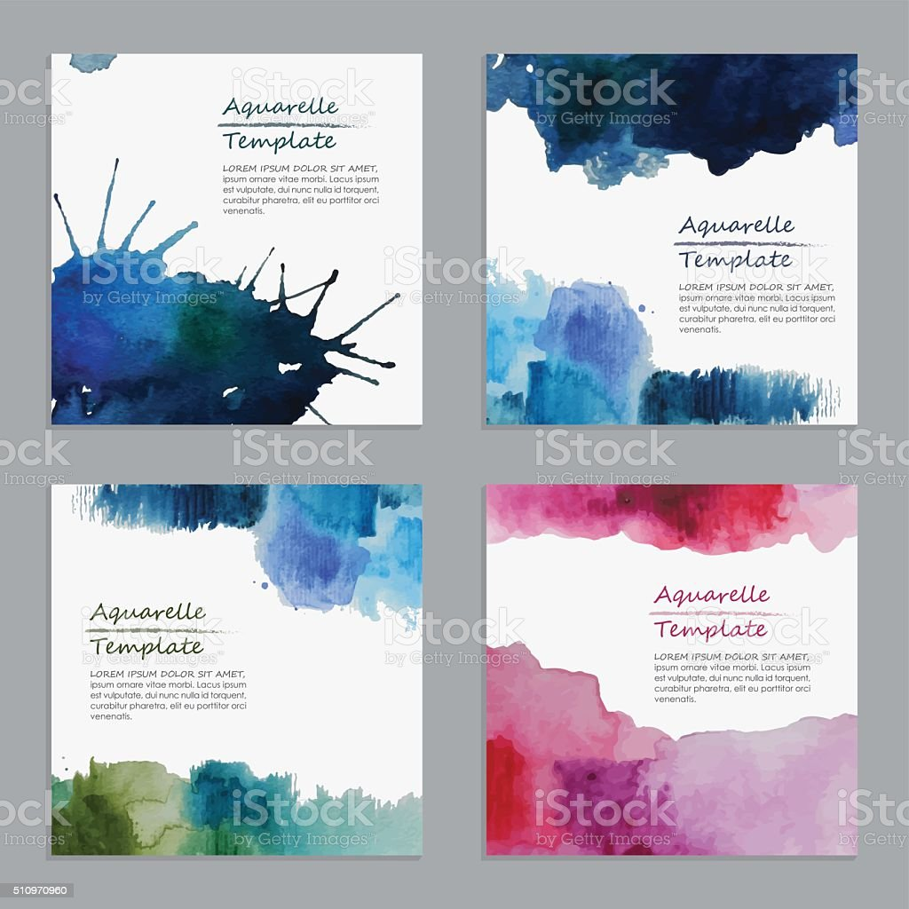 Abstract Watercolor Templates vector art illustration